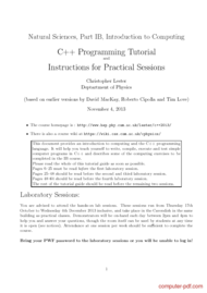 Tutorial C++ Programming Tutorial