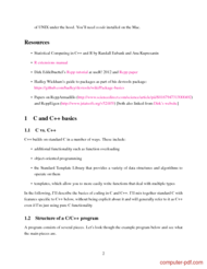 course C++ for statisticians