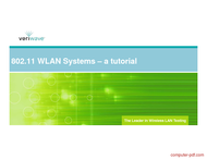 Tutorial 802.11 WLAN Systems