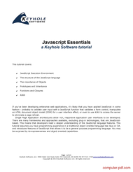Tutorial Javascript Essentials