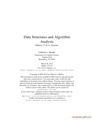 Tutorial Data Structures and Algorithm Analysis (C++)