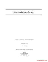 Tutorial Science of Cyber-Security