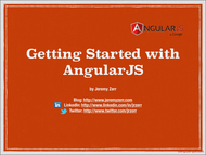 Tutorial Getting Started with AngularJS