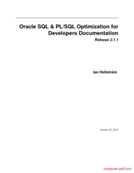 Tutorial Oracle SQL & PL/SQL Optimization
