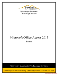 Tutorial Microsoft Access 2013: Forms