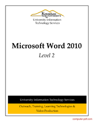 Word 2010 tutorial for beginners pdf