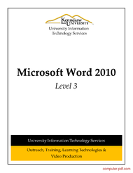Tutorial Microsoft Word 2010 Level 3