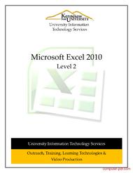 Tutorial Microsoft Excel 2010 Level 2