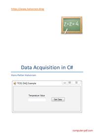 Tutorial Data Acquisition in C#