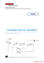 Tutorial Introduction to Simulink