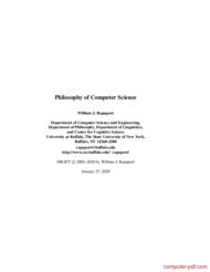 Tutorial Philosophy of Computer Science