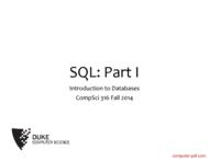 Tutorial SQL: Part I