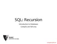 Tutorial SQL: Recursion