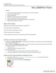Tutorial Microsoft Excel - Pivot Table