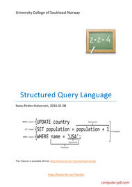 Tutorial Structured Query Language (SQL)