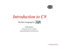 Tutorial Introduction to CSharp (C#)