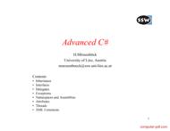 Tutorial Advanced CSharp (C#)