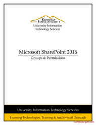 Tutorial Microsoft SharePoint 2016: Groups & Permissions