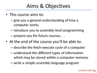 course Computer Fundamentals