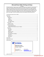 course Excel 2016 Printing and Setup
