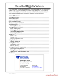 course Excel 2016 Linking Worksheets