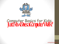Tutorial Computer Basics for Kids