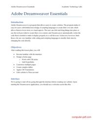Tutorial Adobe Dreamweaver Essentials