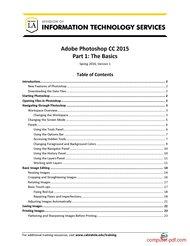 Tutorial Adobe Photoshop CC 2015 Part 1: The Basics