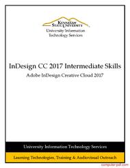 Tutorial InDesign CC 2017 Intermediate Skills