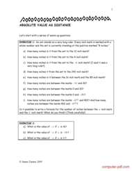 """course A brief guide to """"absolute value"""""""