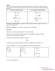 course Solving Radical Equations