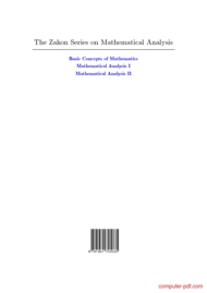 Tutorial Mathematical Analysis (Volume II)