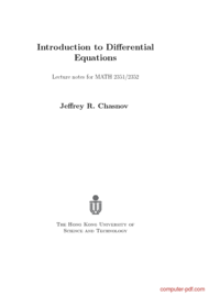 Tutorial Introduction to Differential Equations