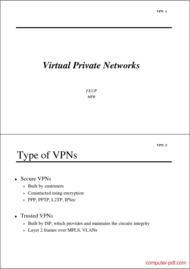 Tutorial Virtual Private Networks Type of VPNs