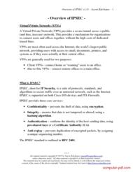 Tutorial Overview of IPSEC