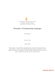 Tutorial Principles of Programming Languages