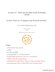 Tutorial DNS and the DNS Cache Poisoning Attack
