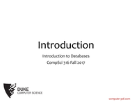Tutorial Introduction to Databases