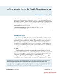 Tutorial A Short Introduction to the World of Cryptocurrencies