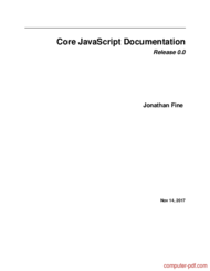 Tutorial Core JavaScript Documentation