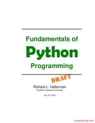 Tutorial Fundamentals of Python Programming