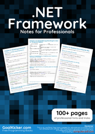 Tutorial .NET Framework Notes for Professionals book