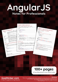 Tutorial AngularJS Notes for Professionals book