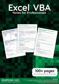 Tutorial Excel VBA Notes for Professionals book