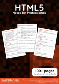 Tutorial HTML5 Notes for Professionals book