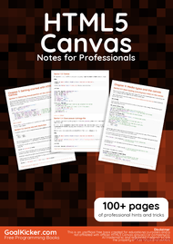 Tutorial HTML5 Canvas Notes for Professionals book