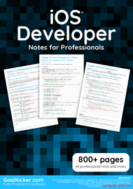 Tutorial iOS Developer Notes for Professionals book