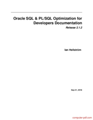 Tutorial Oracle SQL & PL/SQL Optimization for Developers