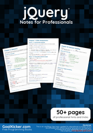 Tutorial jQuery Notes for Professionals book