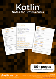Tutorial Kotlin Notes for Professionals book